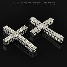 Various Side Ways Metal Crystal Rhinestones Cross Charm Bracelet Connector Beads