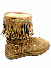 Ugg and Jimmy Choo  S/N3044 Studded Chestnut Gold Stars Size US.9 UK.7.5 EU.40