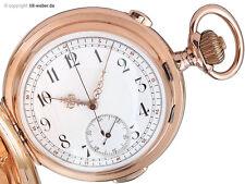 """Taschenuhr """"Minutenrepetition mit Chronograph"""" Gold ca. 1910"""