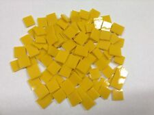 SUNFLOWER YELLOW Glass Hand Cut Mosaic Glass Tile ... 100 total pieces