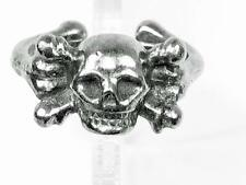 Skull and crossbones Pewter Pirate ring, Gothic, Pirates, Wicca