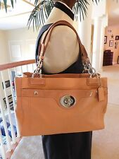 Coach Penelope Carryall Leather Handbag F16531 Dune With Matching Wallet RARE