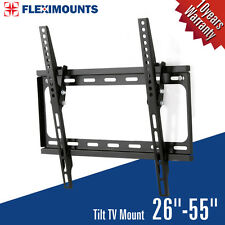 LCD LED Plasma Flat Tilt TV Wall Mount Bracket 27 32 37 40 42 46 47 50 55 inch