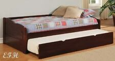 SUNSET DARK CHERRY FINISH WOOD TWIN DAYBED w/ TRUNDLE
