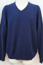 Club Room Mens Sweater Sz M Midnight Blue 2 PLY 100% Cashmere Casual Sweater