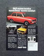 K597- Advertising Pubblicità -1973- DAF 66
