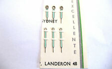 LANDERON 48  1 x PAIR ( HOUR + MINUTE ) SILVER LUMINOUS HANDS