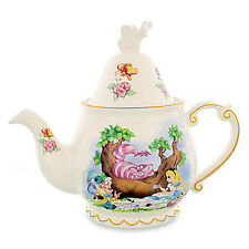 Disney Alice in Wonderland Alice Cheshire Cat Mad Hatter Teapot & Cups & Saucers