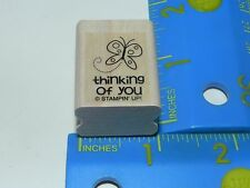 Stampin Up Small Rubber Stamp - Butterfly Thinking of You