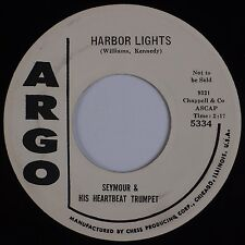 SEYMOUR & HIS HEARTBEAT TRUMPET: Harbor Lights ARGO R&B Jazz 45 VG+