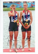 HEATHER STANNING & HELEN GLOVER - Signed 12x8 Photograph - SPORT - ROWING