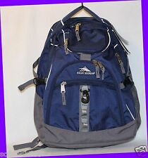 "High Sierra Access TRUE NAVY/CHARCOAL 17"" Laptop Backpack w/ Rain Cover"