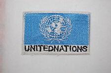Ecusson brodé patch thermocollant Drapeau NATIONS UNIS