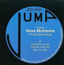 DAVE MCKENNA - Private Recordings: At Keyboard Lounge... CD Excellent Condition