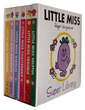 NEW BOX SET of 6 LITTLE MISS board books SUNSHINE GIGGLES CHATTERBOX HELPFUL Mr