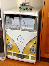 Volkswagen VW Bus Fridge Graphics - Bar Fridge - Split Kombi Yellow