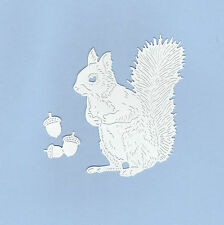 8 Tattered Lace Squirrels with 3 Small Acorns Die Cuts