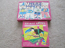Vintage Spears Games Childrens Misfits And Animal Antic Board Games Complete