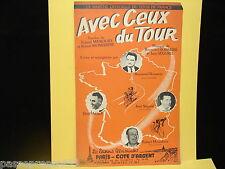 Ancienne partition, Avec ceux du tour, la marche officielle du tour de France