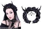 Restyle Gothic Haarreifen Rose Reh Geweih Haarschmuck Hörner Victorian Headpiece
