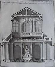 Architecture. Coupe de la chapelle de la communion de st Jean en greve prise sur
