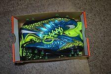 Nike Hypervenom Phinish FG Soccer Cleats Blue 744947 400 WMNS SZ 12  MEN SZ 10.5