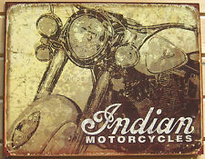 Indian Antique Motorcycle TIN SIGN metal poster vtg bar garage wall decor 1724
