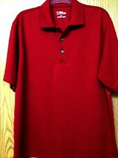 New PGA Tour Mens Brick Red Polo Golf Casual Shirt Size L Large