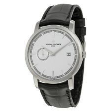 Vacheron Constantin Traditionelle Automatic Silver Dial Black Leather Mens