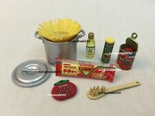 Re-ment dollhouse miniature home made spaghetti timer olive oil cheese 2005