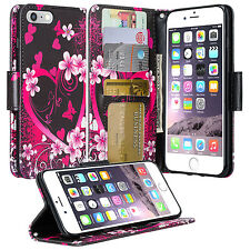 For iPhone 7 / 7 Plus Wallet Case Leather Phone Cover Card Slot Stand 6S Plus