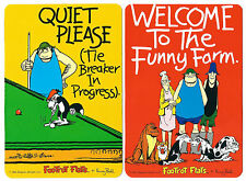 2 NOVELTY BOOKMARKS - SNOOKER-FUNNY FARM - BORDER COLLIE - DOUBLE SIDED