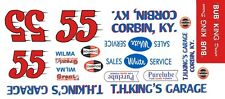 #55 BUB King Kings Garage Hudson Hornet 1/24th - 1/25th Scale Decals