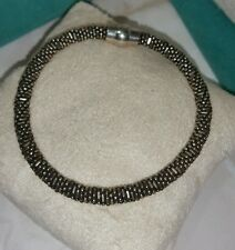Vicenza QVC beaded bangle flex Sterling Silver 950 magnetic Bracelet milor Italy
