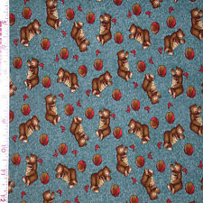 1YD Adventures of Sonny Bear PLAYING HONEY JAR Child Nursery Baby Bears Fabric
