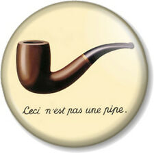 "Ceci n'est pas une pipe 1"" 25mm Pin Button Badge French quote This is not a pipe"