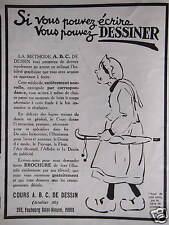 PUBLICITÉ COURS A. B. C. DE DESSIN SI VOUS POUVEZ ÉCRIRE VOUS POUVEZ DESSINER
