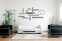 Family Wall Quote Stickers Vinyl Art Decals decor transfer DIY