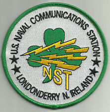 US NAVAL-COMMUNICATION STATION- LONDONDERRY N. IRELAND MILITARY PATCH