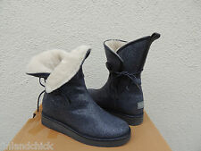 UGG COLLECTION BYANCA BLUE STINGRAY HIDDEN WEDGE SHEARLING BOOTS, US 7/ 38 ~NEW