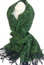 Irish Shamrock Design Scarf, Direct from Ireland! Black and Green Design