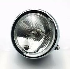 New 6 Inch Chrome Motorcycle Side Mount Headlight Round Cafe Racer Bobber Light