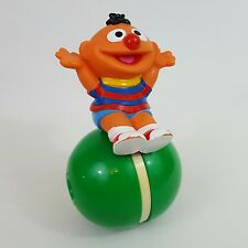 Sesame Street Roly Poly Ernie plastic push along toy Tyco 1994 rare