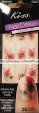 KISS 28 Nail Dress PUSH-UP Art Strips/Appliques PINK PEACOCK FEATHER #56745 1/2