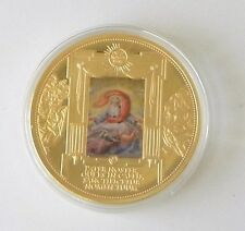 """""""The Lord's Prayer""""  24k Gold Plated Limited Edition Proof Commemorative Coin"""