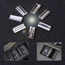 7Pcs Chrome Door Window Switch Lift Button Cover Trim For Chevrolet Cruze Malibu
