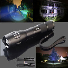 CREE XM-L T6 LED Flashlight Rechargeable Zoomable Torch Light Lamp 5 Mode 2600LM
