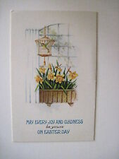 Vintage Cute Set of (3) Easter Postcards Flowers and Birds To Send To Friends *