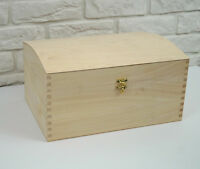 X LARGE TREASURE CHEST PLAIN WOODEN BOX DECOUPAGE CRAFT