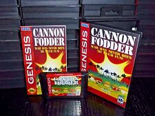 Cannon Fodder for Sega Genesis! War has never been so much Fun!  Cart and Box